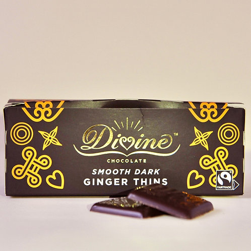 Divine Smooth Dark Chocolate Ginger Thins