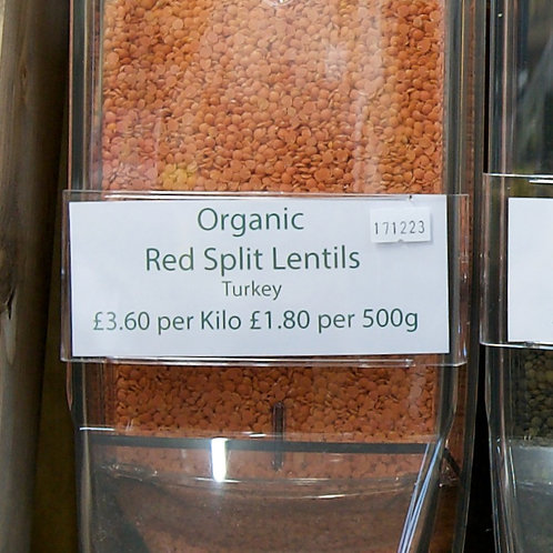 Red Split Lentils loose  per kilo