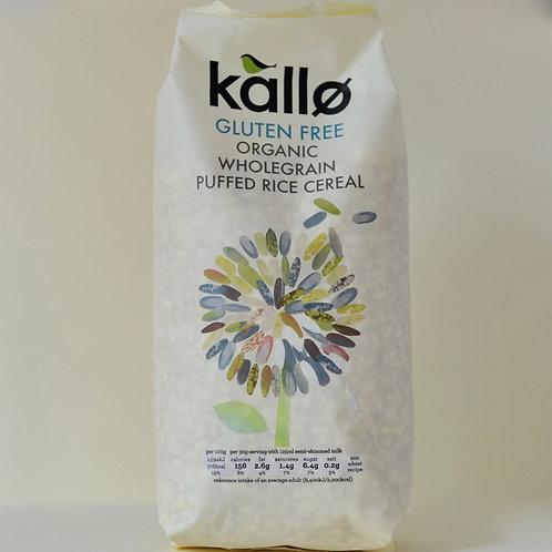 Kallo Organic Wholegrain Puffed Rice Cereal