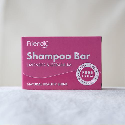 Friendly Lavender and Geranium Shampoo Bar