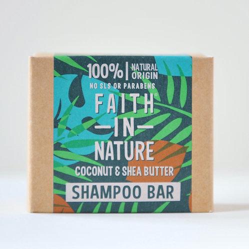 Faith in Nature Shampoo Bar Coconut and Shea Butter 85g