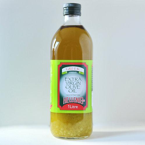 Hellenic Greek Extra Virgin Olive Oil l ltr.