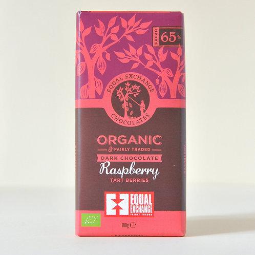 Dark Chocolate + Raspberries Equal Exchange 100g
