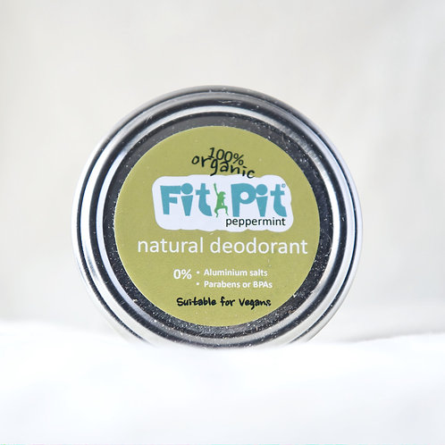 Fit Pit Natural Deodorant  Peppermint small size