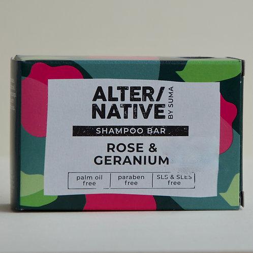 Rose and Geranium Shampoo Bar Alternative 95g