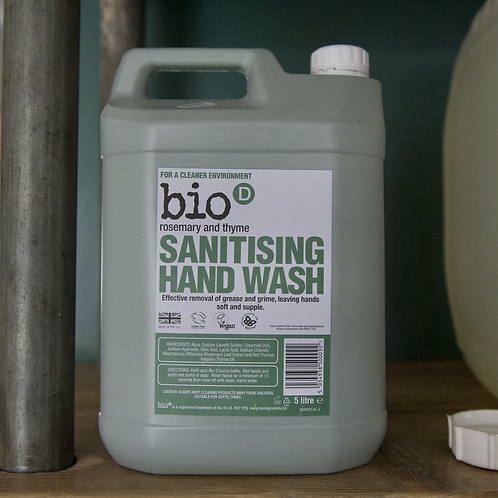 Bio D Sanitising Handwash Rosemary and Thyme per litre
