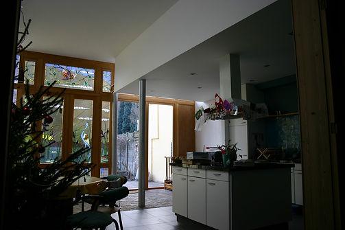 integratie authentieke ramen in de gerenoveerde keuken