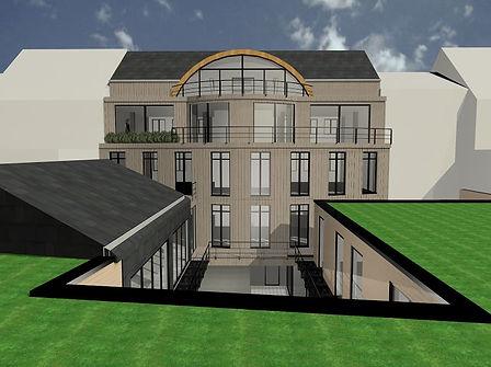 het bouwen van kantoren en woningen