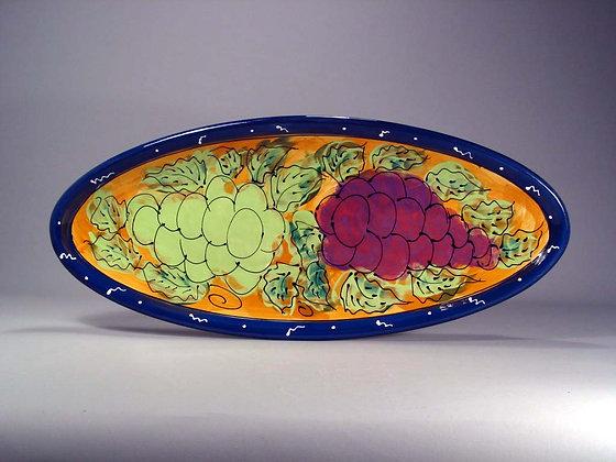 Grapes on Large Fish Dish