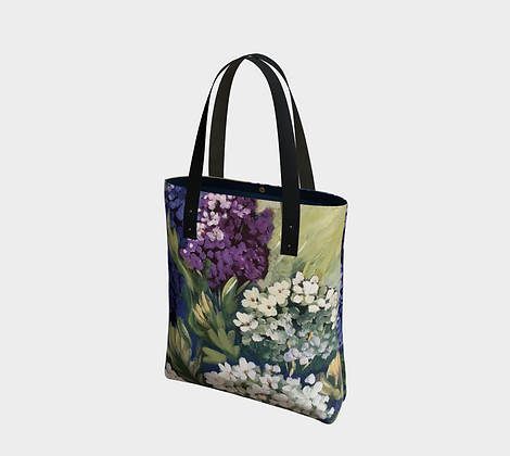 Lilac and Cranberry Pastel Tote Bag