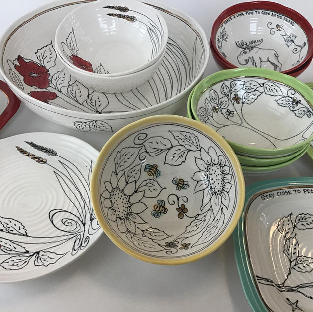 Dinnerware, Serving Bowls, Individual Pasta Bowls, Ice cream Bowls , Rectangle Serving Platter