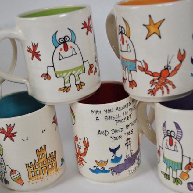 Beach Scene Cofee and Tea Mugs