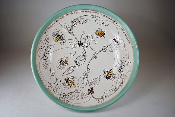 Honey Bees and Daisies