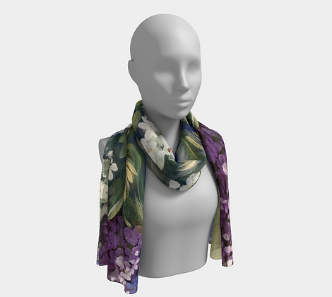 Lilac and Cranberry Pastel Scarf
