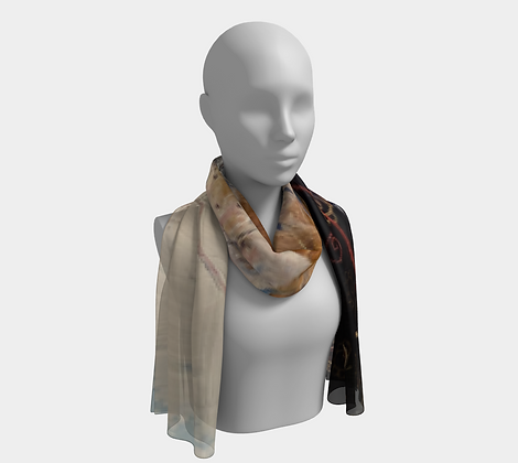 She walks through fields of gold Pastel Scarf
