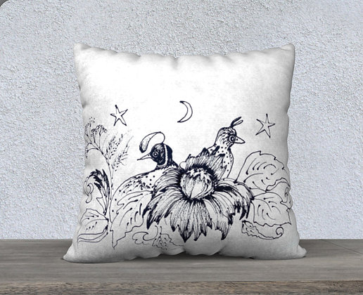 Quail Now and Zen Cushion Cover