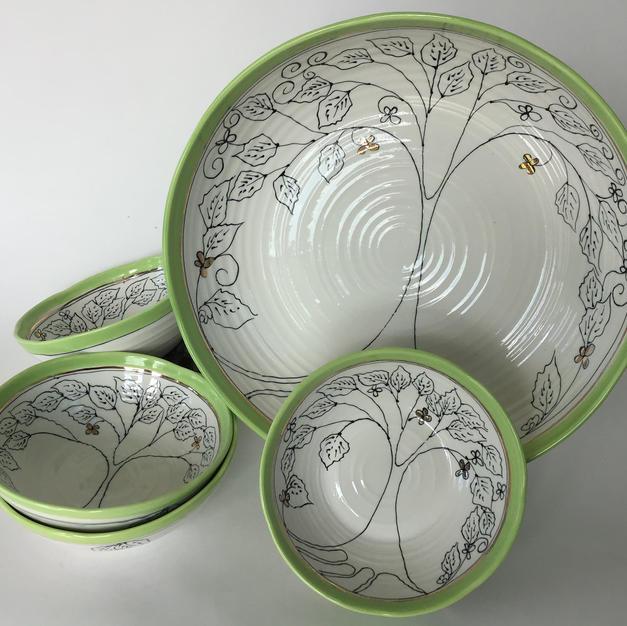 Green Tree Pasta Set
