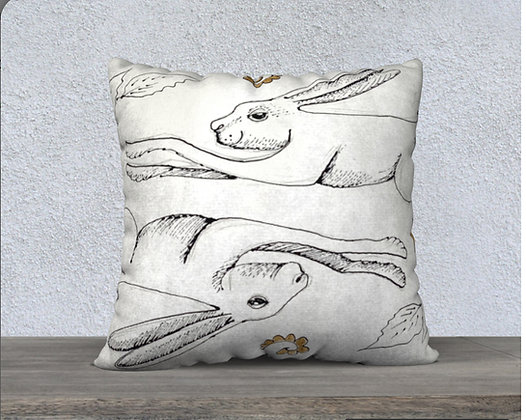 Hare Now and Zen Cushion Cover