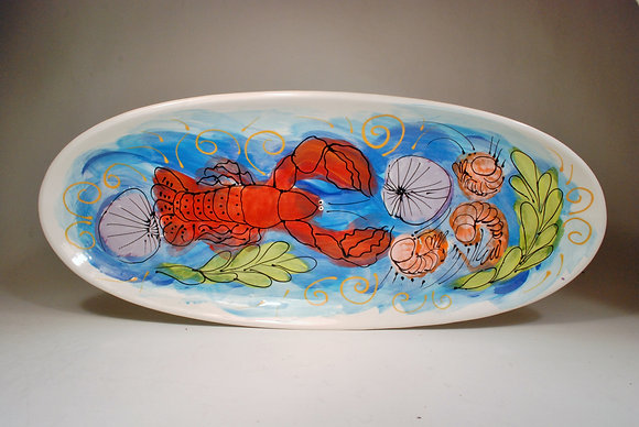 Large Fish Dish Lobster Medley