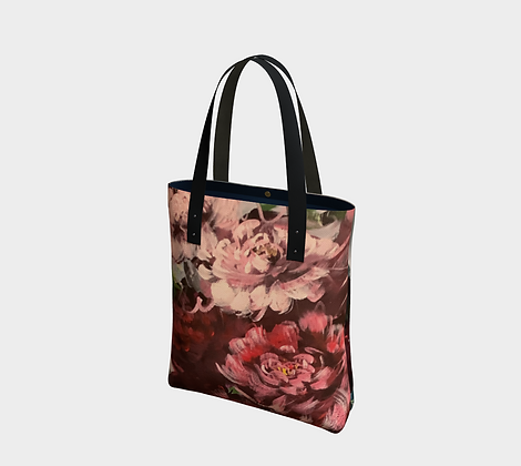 Red Peony Bouquet Tote