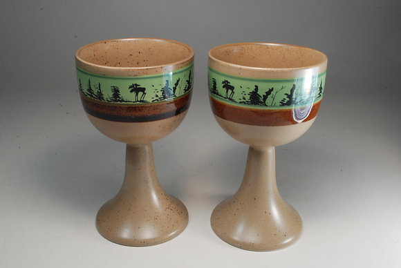 Northern Moose Wine Goblets