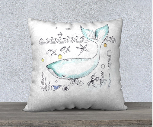 Now and Zen Cushion CoverGrey Whale
