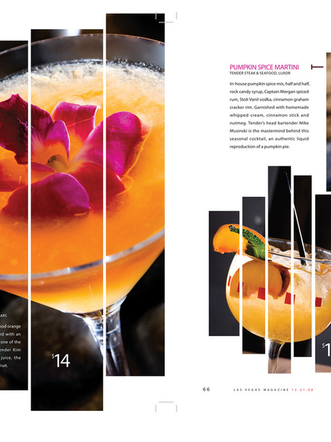 Drink Feature - Las Vegas Magazine Inside Spread