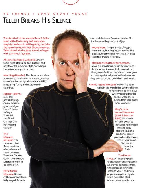 10 Things - Las Vegas Magazine Feature