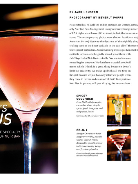 Drink Feature - Las Vegas Magazine Feature