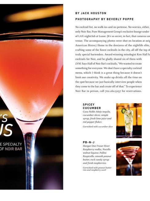Drink Feature - Las Vegas Magazine Feature