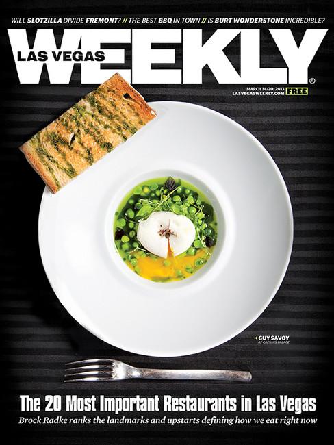 Peas All Around - Guy Savoy - Las Vegas Weekly Cover