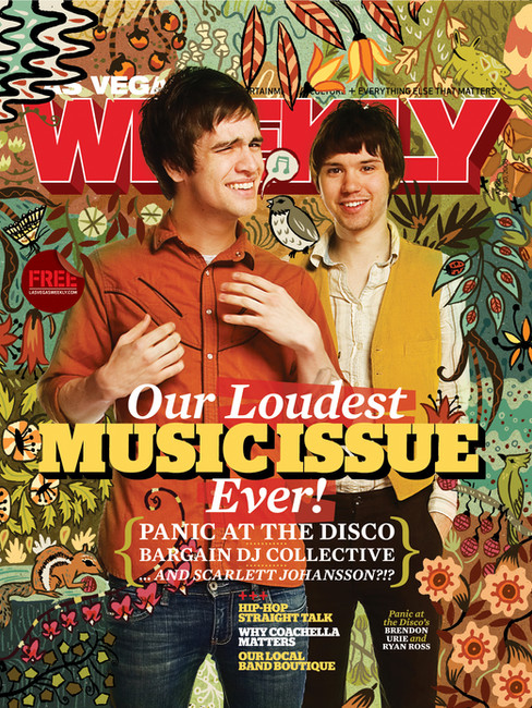 Brendon Urie & Ryan Ross - Panic! At the Disco - Las Vegas Weekly Cover