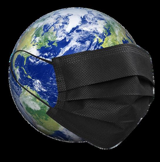 Disposable 3-Ply Face Mask, Black (50 masks per box)