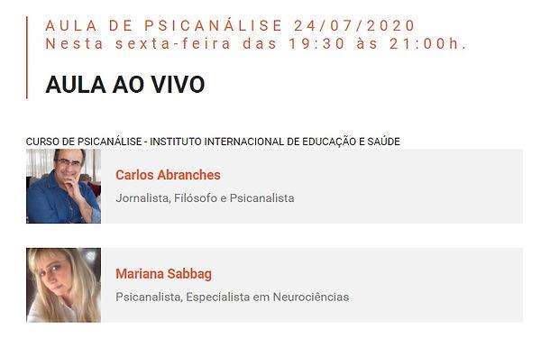 aula de psicanálise com Carlos Abranches