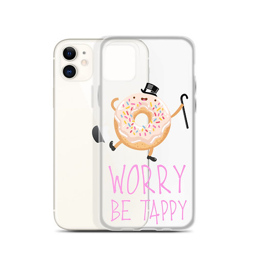 """Donut Worry...Be Tappy!"" iPhone Case"