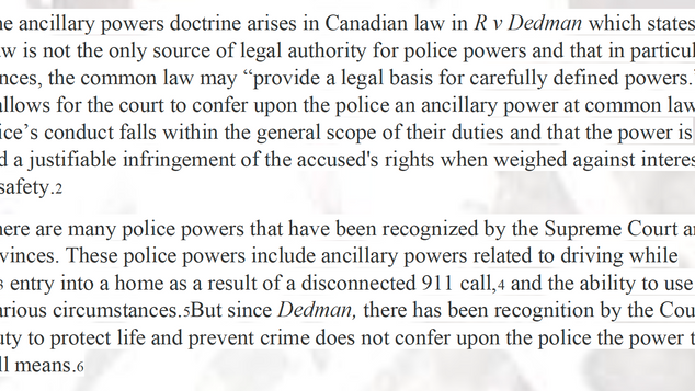 Fleming v Ontario 2019 SCC 45: Ancillary Powers Doctrine and the Right to Protest