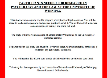 Participants Needed for Psychology and the Law Study!