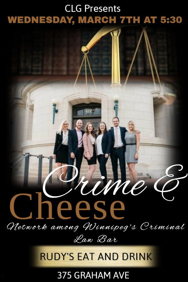 """""""Crime and Cheese"""" - Join the CLG on March 7 at 530PM"""