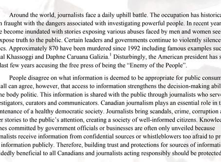 Denis v Côté: Balancing Journalism and Justice