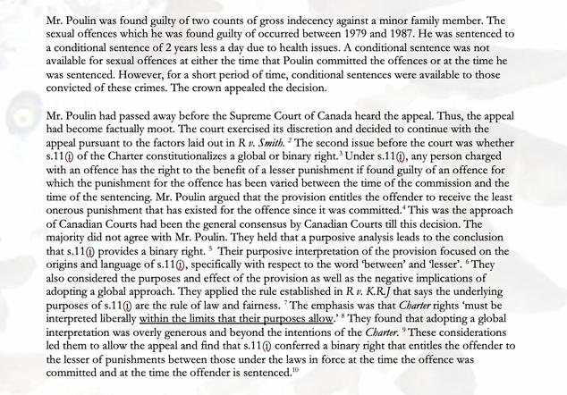 R. v. Poulin: The Rule of Law as a Sword by N Zandsalimi
