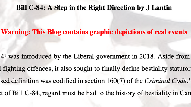 Bill C-84: A Step in the Right Direction by J Lantin