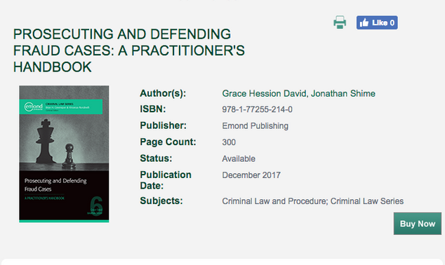 """Book Review of """"Prosecuting and Defending Fraud Cases: A Practitioner's Handbook"""""""