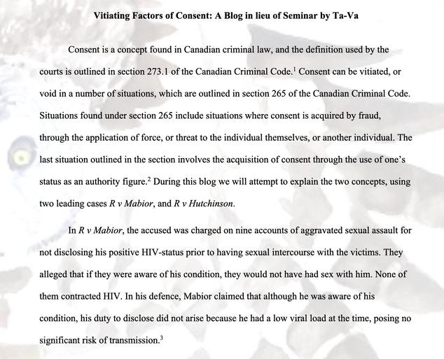 Vitiating Factors of Consent - by Ta-Va