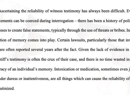Issues of Reliability in Testimony: R v Weldekidan and R v Jovel