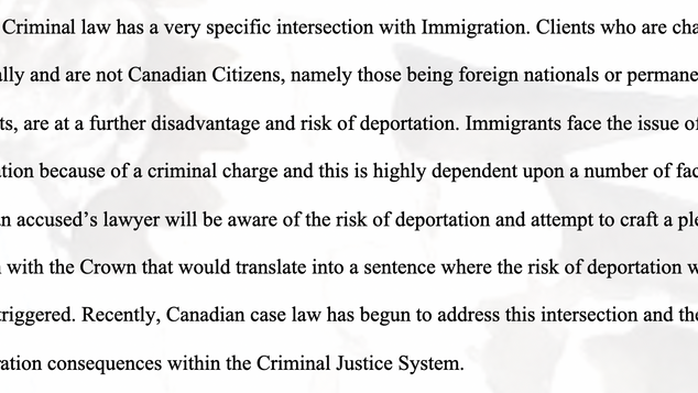 Criminal Charges and the Intersection of Immigration