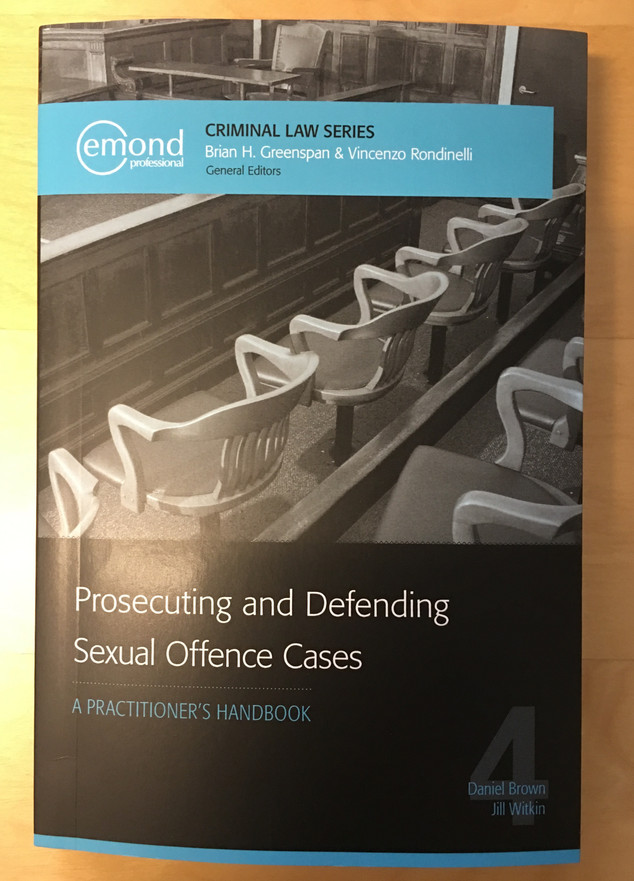 Book Review- Prosecuting and Defending Sexual Offence Cases: A Practitioner's Handbook