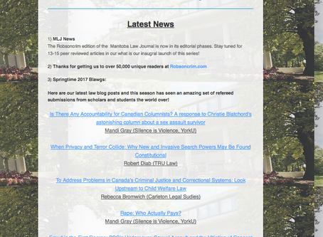Check out spring newsletter - makes for great reading
