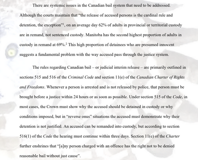 Systemic failures in the Canadian and Manitoban bail systems