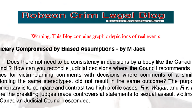 Judiciary Compromised by Biased Assumptions - by M Jack