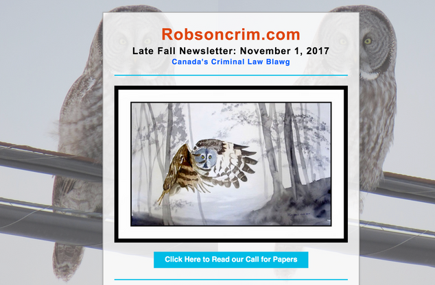 Robson Crim Fall 2017 Newsletter